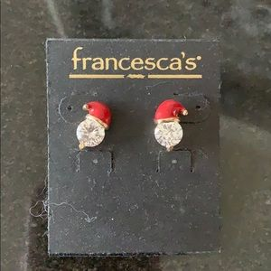 Francesca's Santa gem earrings